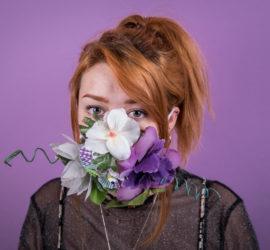 """""""Floral face"""", autor: Rowanne Kali Dias"""
